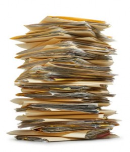Paper Files in Stack