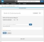 LinkedIn Skills and Endorsements