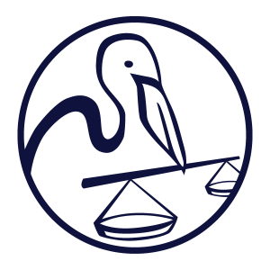Pelican in Circle Blue PNG