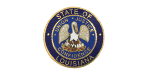 This image has an empty alt attribute; its file name is la-state-seal-300x150.png